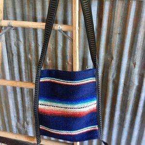 Bags - Crossbody Messenger Bag with Serape Print